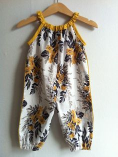 I'm official crazy for romper bebe. Floral Romper Suit by TreefallDesign on Etsy