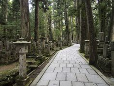 As you walk down this 1.2 mile path through the forest of Mount Koya, you will find graves on either side of you. These silent memorials rest in Okunoin, which is Japan's largest cemetery.