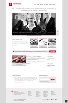 A tailor made WordPress theme for attorneys, legal offices or consultancy firms that need a clean and stark looking website.