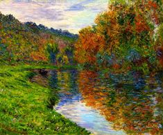 Claude Monet 1884 Arm of the Jeufosse, Autumn oil on canvas 60 x 73 cm Private Collection