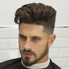 cool 80 Elegant Hairstyles For Thick Hair - Trendy Highlights Top Hairstyles For Men, Slick Hairstyles, Undercut Hairstyles, Elegant Hairstyles, Cool Haircuts, Haircuts For Men, Undercut Pompadour, Undercut Fade, Greaser Hairstyle