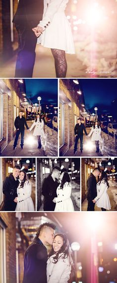 winter city engagement session