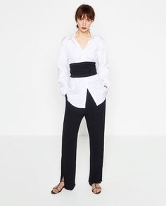 Image 1 of TROUSERS WITH SIDE SLIT from Zara