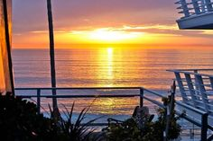 gorgeous sunset from the deck of our place in #lagunabeach