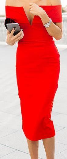 Off-shoulder Short Sleeves Bodycon Knee-length Evening Dress