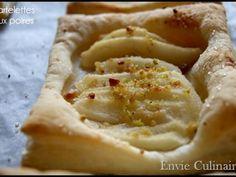 Recette Dessert : Tartelettes aux poires par Envie culinaire