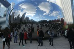 """You can tell where the name of the sculpture """"Cloudgate"""" originated from....it is quite a sight to behold.  #MyDayinStitchFix"""