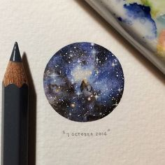 """7 October 2014, day 280 - A section of the Large Magellanic Cloud. Part of Lorraine Loots """"365: Postcards for Ants"""" Series."""