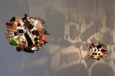 homemade resin lamp shades | Nice Ball: Quirky Lamp Made from 80 Doll Sized Iconic Vitra Chairs and ...