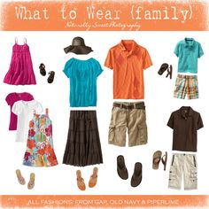 Fashion Friday: What to Wear? Summer Family Portraits, Family Photos What To Wear, Family Photo Colors, Family Picture Outfits, Clothing Photography, Photography Ideas, Beach Photography, We Wear, How To Wear