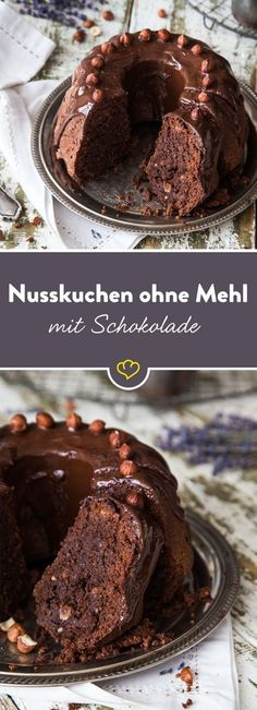 Eigentlich ist es Zufall, dass diese Schoko-Nussbombe glutenfrei ist – sie benö… Actually, it is a coincidence that this chocolate nut bomb is gluten-free – it simply does not need a gram of flour to be uncompromisingly delicious. Dessert Oreo, Dessert Sans Gluten, Bon Dessert, Paleo Dessert, Healthy Dessert Recipes, Smoothie Recipes, Baking Recipes, Cookie Recipes, Low Carb Desserts