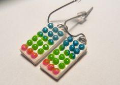 Candy Dots Fimo Earrings by JerisJewelryBox on Etsy, $10.00