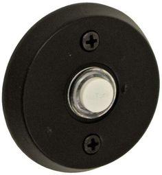 Round Beveled Doorbell in Dark Bronze