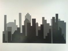 How to paint a skyline wall mural