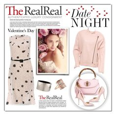 """""""Date Night Dressing with The RealReal: Contest Entry"""" by cruzeirodotejo ❤ liked on Polyvore featuring Marni, Gucci, J Brand, CÉLINE, Charlotte Olympia, Giambattista Valli and TheRealReal"""