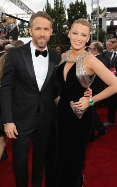 Blake Lively and Ryan Reynolds stunned in classy silhouettes on the Golden Globes 2017 red carpet in Beverly Hills on Sunday, January 8 — read Blake And Ryan, Blake Lively Ryan Reynolds, Chris Williams, Cute Celebrity Couples, Celebrity Weddings, Cutest Couples, Celebrity Style, Party Animals, Gossip Girls