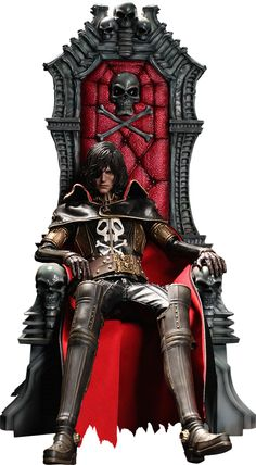 Captain Harlock with Throne of Arcadia Captain Harlock Sixth Scale Figure by Hot Toys
