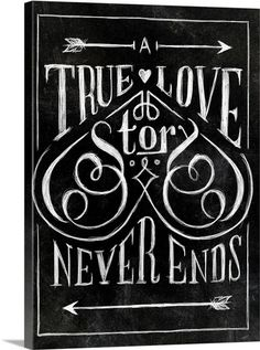 A true love story never ends by Thomas Pena, lettering, design, chalk Typography Letters, Typography Design, Chalk Lettering, Typography Quotes, Word Art, Typographie Fonts, Schrift Design, Typographie Inspiration, True Love Stories