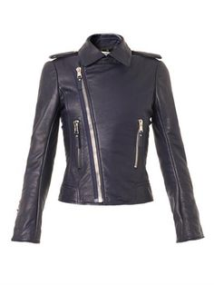 Leather biker jacket | Balenciaga | MATCHESFASHION.COM