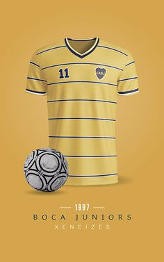 Boca Juniors Soccer T-Shirts / Printable / Wall Art / Poster / Decor Football Kits, World Of Sports, Soccer, Printables, Mens Tops, T Shirt, Behance, Wallpapers, Logo