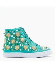 Loving these teal high tops