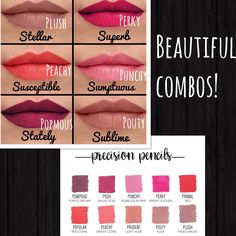 I absolutely love these color combos of lip liners and our new Splash matte liquid lipsticks! Buy any 3 shades of Splash and get a FREE lip liner in June!! These are just some ideas...so many choices!! What's your favorite color combo??? #youneedthis #spl