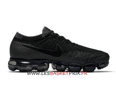 wholesale dealer d430e 7debd Nike Air Vapormax Flyknit 849558-007 Chaussures DE Running Noir Pas Cher  Pour Homme -