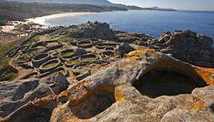 Castros de Baroña en el concello de Porto do Son. Uno de los asentamientos mejor conservados de Galicia, considerado el mayor icono heredado de la época castreña.