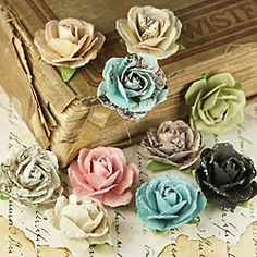 Pixie Glen Coventry Rose Paper Flowers (Pack of 10)
