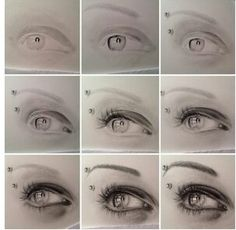 Amazing drawing - how to draw the perfect eye step by step