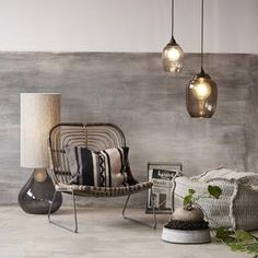 Furniture - CHALK & EASEL House Doctor, Glass House, Recycled Glass, Decoration, Armchair, Dining Table, Table Lamp, Cushions, Living Room