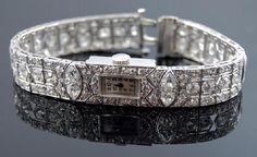 We love this Platinum Diamond Ladies Watch!