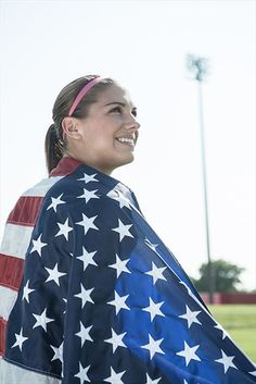 Alex Morgan is seeing stars and stripes. Learn more about Alex at att.com/myjourney #teamUSA Photo by David Mead