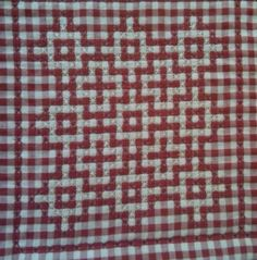 This cross stitched quilting on gingham checkered fabric creates a beautiful lacy appearance. This guide is about making a chicken scratch quilt. Chicken Scratch Patterns, Chicken Scratch Embroidery, Crafts For Girls, Crafts To Make, Girl Scout Crafts, Mini Album Tutorial, Crochet Square Patterns, Needlepoint Stitches, Doll Crafts