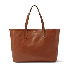 The perfect tan leather tote.  Roomy, classic, stylish and practical.  Fossil Sydney Tote ZB5488 | FOSSIL®