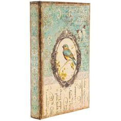 Hide Vintage Bird Print Lined Book Box amongst your extensive book collection for a completely seamless hiding spot for all of your small bits and baubles.