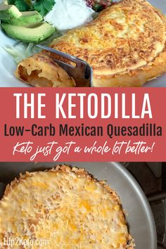 Low-Carb Mexican Quesadilla Introducing the Ketodilla—My Spin on a Traditional Favorite!Introducing the Ketodilla—My Spin on a Traditional Favorite! Diet Plan Menu, Keto Meal Plan, Ketogenic Recipes, Low Carb Recipes, Ketogenic Diet, Ketogenic Breakfast, Ketosis Diet, Diet Breakfast, Breakfast Recipes