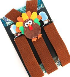 Kids Turkey Suspenders, Thanksgiving Outfit, Brown Suspenders, Baby Suspenders, Toddler Suspenders, Childrens Photo Prop, Holiday, www.babywhatknots.etsy.com