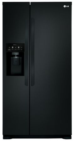 Side by Side Double Door Fridge in matte black w/ dispenser LG LSXS22423B