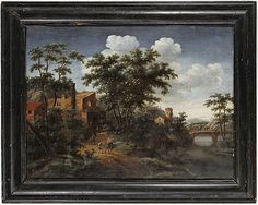 Flemish school. Unknown artist/unsigned. 17th/18th century. Oil on panel. 60x85 cm. Period frame.