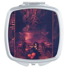 Home Spooky Home Magical Art Compact Mirror. #Witch #Enchanting #Magical #CompactMirror