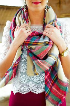 A Southern Drawl: lace and plaid