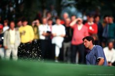 By Bob Thomas Bob Thomas Sports Photography Getty Images  Sport, Golf, The Ryder Cup, The Belfry, England, September 1993, Europe 13 v USA 15, USA's Fred Couples blasts out of a bunker.