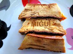 LA COCINA DE MIGUI Y FAMILIA: PUDING DE MANZANA Y MAGDALENAS