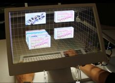 """SpaceTop 3D computer allows users to """"touch"""" digital content"""