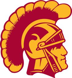 Southern California Trojans Primary Logo (1972) - Yellow and red Trojan head