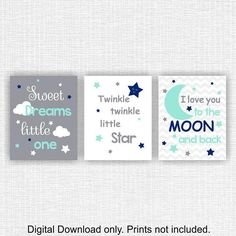 Need a different color? - Let me know at the time of purchase! Need a different size? - Let me know at the time of purchase! Need another quote? - Let me know in advance! This listing is for a set of 3 PRINTABLE art print measuring 8x10 inches. Your completed file will be emailed to