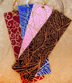 Handpainted Bookmarks  choose any 4 from my shop by dasbuch, $40.00