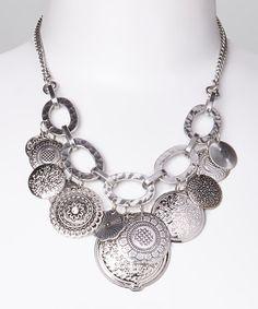 Another great find on #zulily! Silver Disk Bib Necklace #zulilyfinds