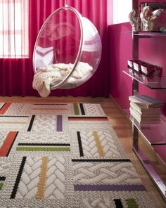 Cute for a teen bedroom - I'd have that as my bedroom layout REGARDLESS of being a teen or not or just a beanbag